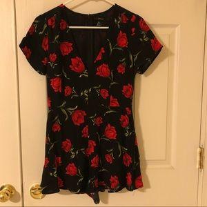 Forever 21 rose romper